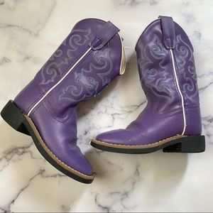 Old West Cowgirl Boots Purple Toddler Sz 9
